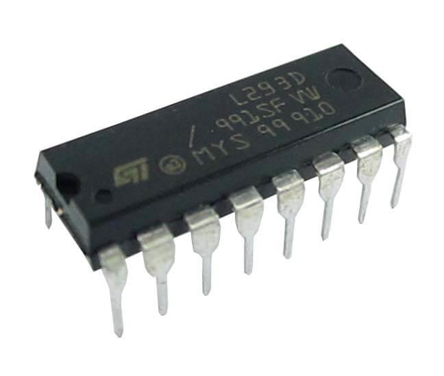 Микросхема драйвер моторов L293D