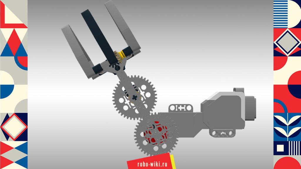 💾 Захват Lego EV3 двухпальцевый поднимающийся на большом моторе - вариант 1 v1.1