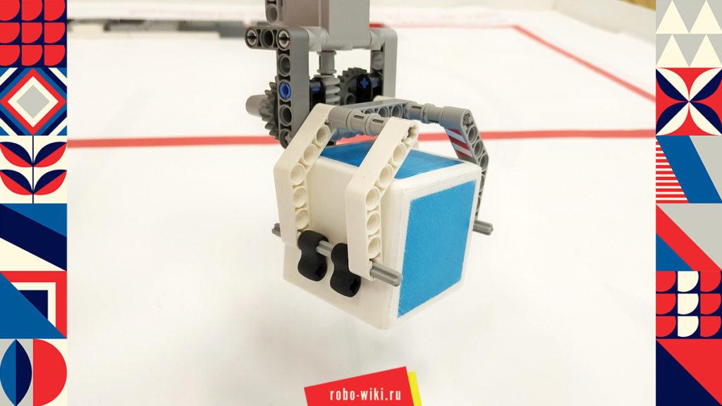 💾 Захват Lego EV3 двухпальцевый на среднем моторе c червячной передачей - вариант 2 v1.1