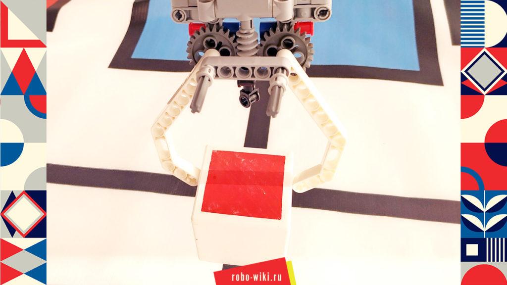 💾 Захват Lego EV3 двухпальцевый на среднем моторе с червячной передачей — вариант 3 v1.1