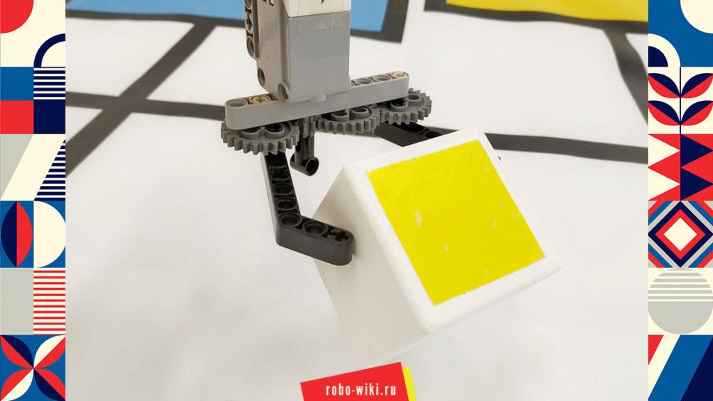 💾 Захват Lego EV3 на среднем моторе двухпальцевый - вариант 1 v1.1