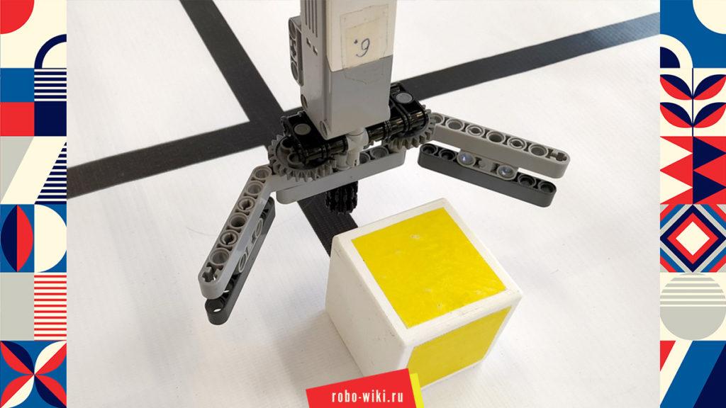 💾🔑 Захват Lego EV3 на среднем моторе двухпальцевый - вариант 2 v1.2