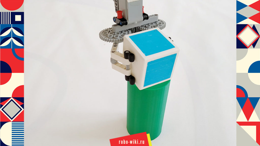 💾🔑 Захват Lego EV3 на среднем моторе двухпальцевый - вариант 3 v1.2