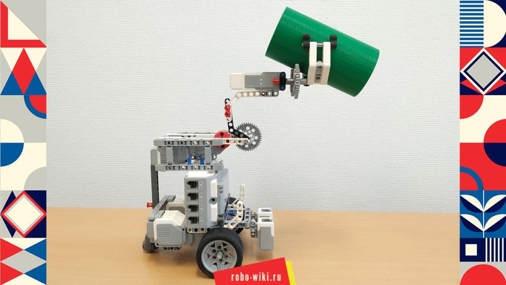 💾 Мобильный однорычажный манипулятор Lego EV3 - вариант 1 v1.3