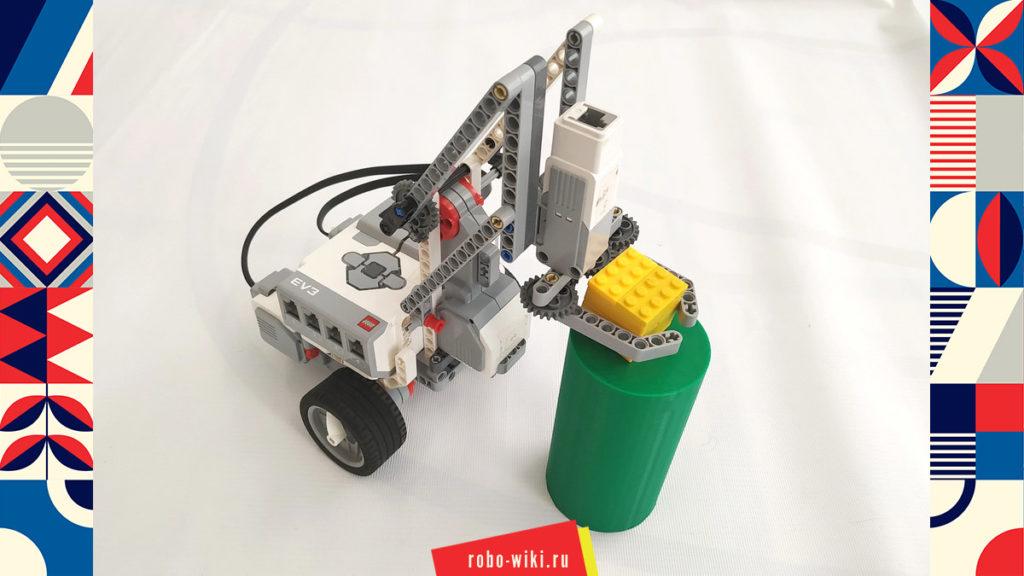 💾 Мобильный манипулятор Lego EV3 с параллелограммным механизмом – вариант 1 v1.2