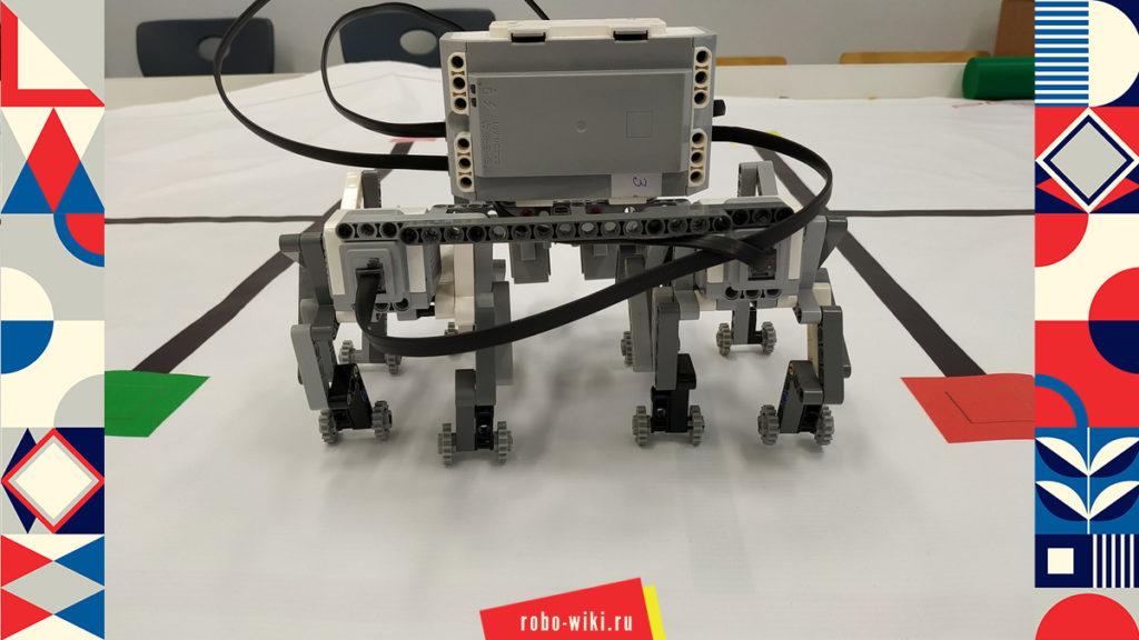 💾🔑 Шагающий восьминогий робот Lego EV3 на механизме Тео Янсена – вариант 1 v1.2