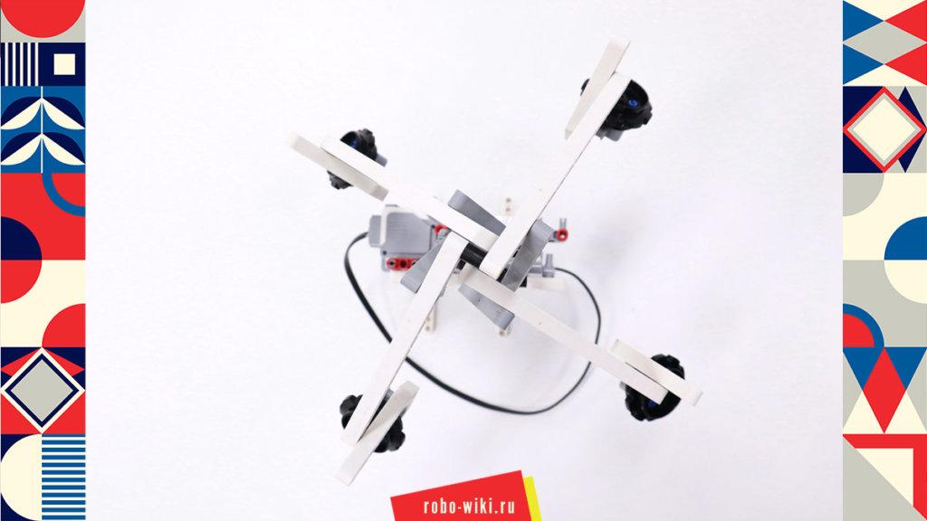 💾🔑 Карусель из Lego EV3. Плавный разгон и торможение v1.0