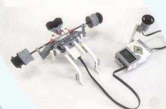 💾🔑 Lego EV3 Жим лёжа и счетчик нажатий || Изучаем датчик касания. Переменные